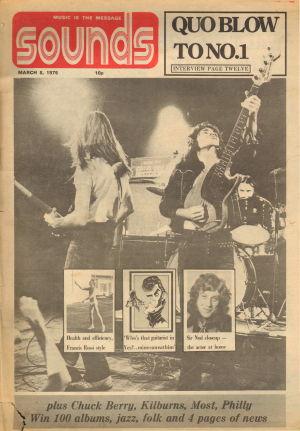 Sounds. Publication date: 9th March1975